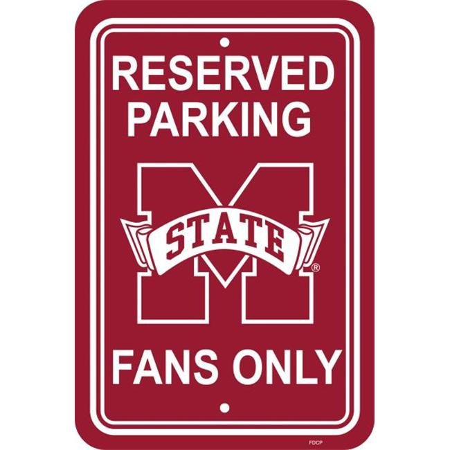 Fremont Die 50242 12'' X 18'' Plastic Parking Sign  - Mississippi State Bulldogs
