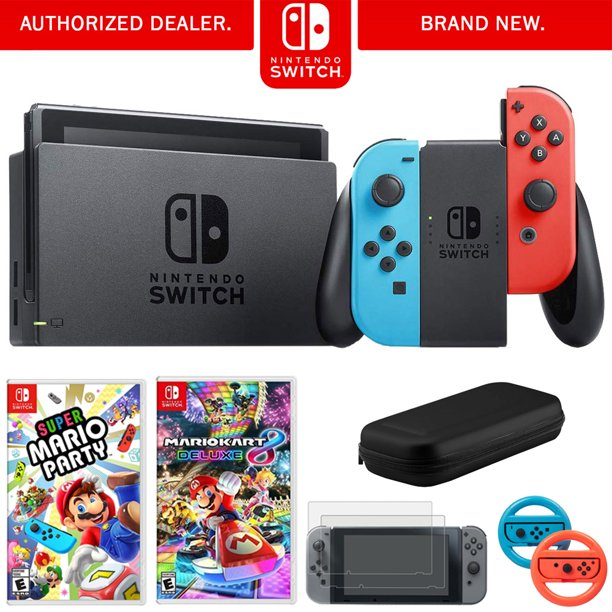 Nintendo Switch 32 Gb Console W Neon Blue And Red Joy Con
