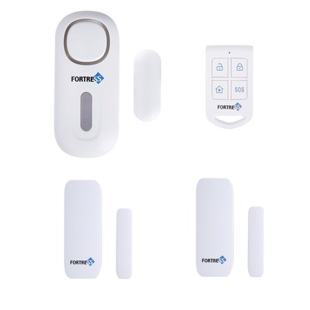 Fortress Security Safeguard Preferred Kit: DIY Wireless All-In-One Standalone Personal Security Alarm System with Remote for Easy Control and 2 Door and Window Contact