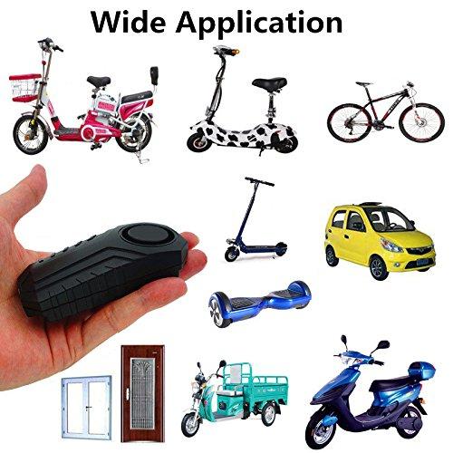 Loud 113dB Wireless Anti-Theft Vibration Motorcycle Bike Security Alarm w//Remote