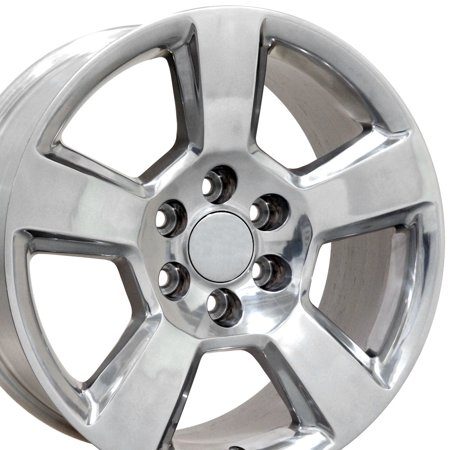 20x9 Wheel Fits GM Trucks & SUVs - Chevy Tahoe Style Polished Rim, Hollander 5652