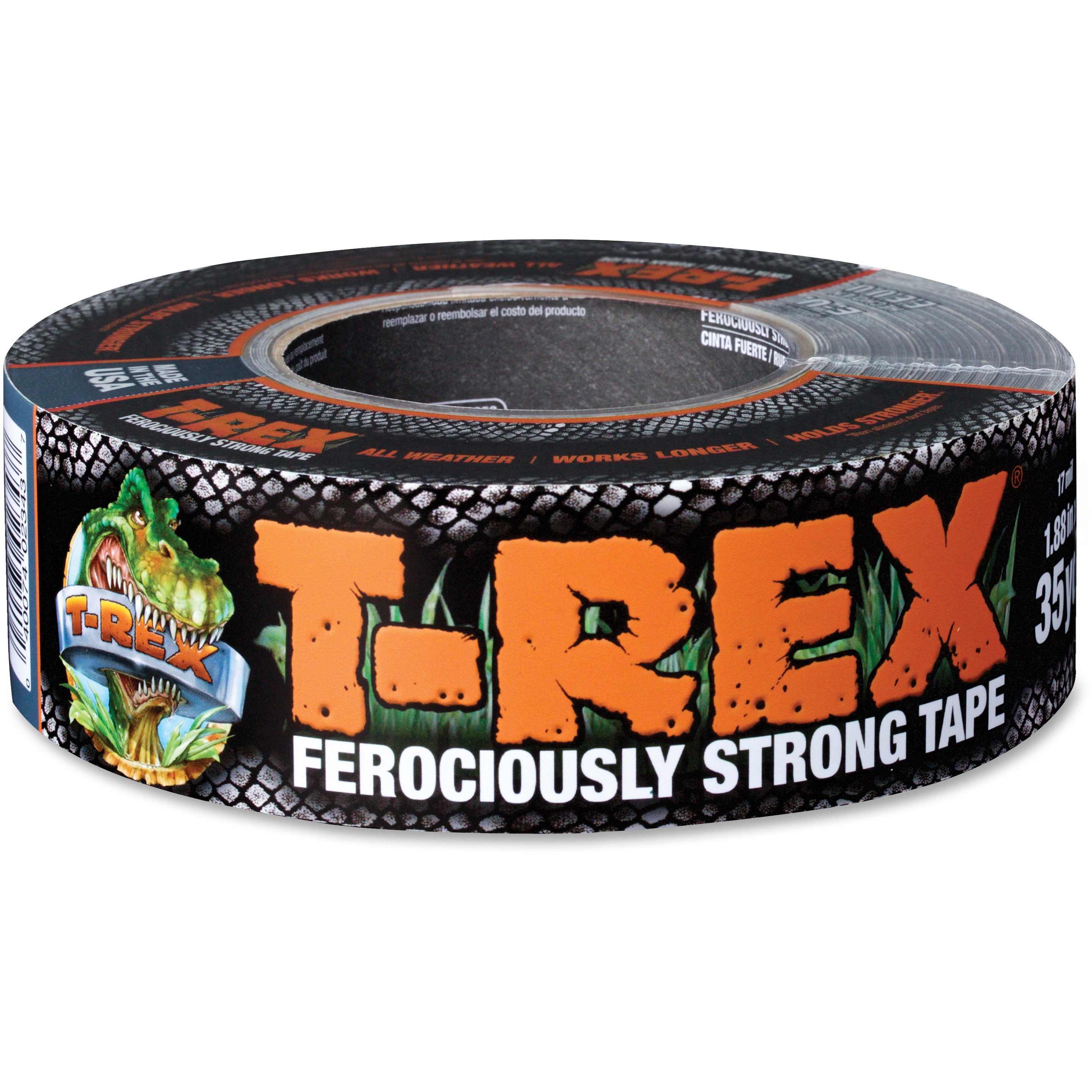 "T-REX Tape Ferociously Strong Repair Tape, 1.88"" x 35 yd, Gunmetal Gray"