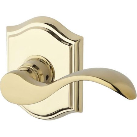 Baldwin PV.CUR.TAR.003 Privacy Curved Lever & Traditional Arch Rose, Lifetime (Brass Curve Track)