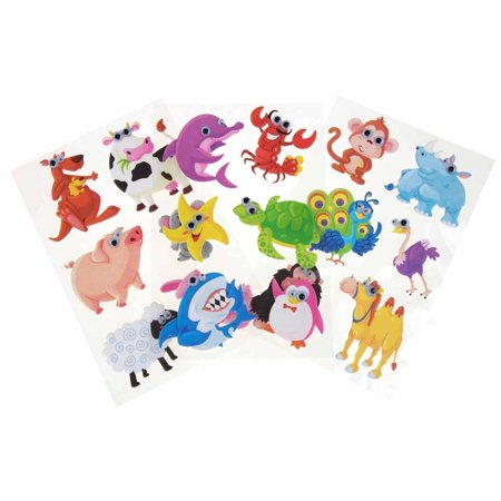 Assorted Animals Googly Eyes Soft-Touch Stickers, 2-Inch