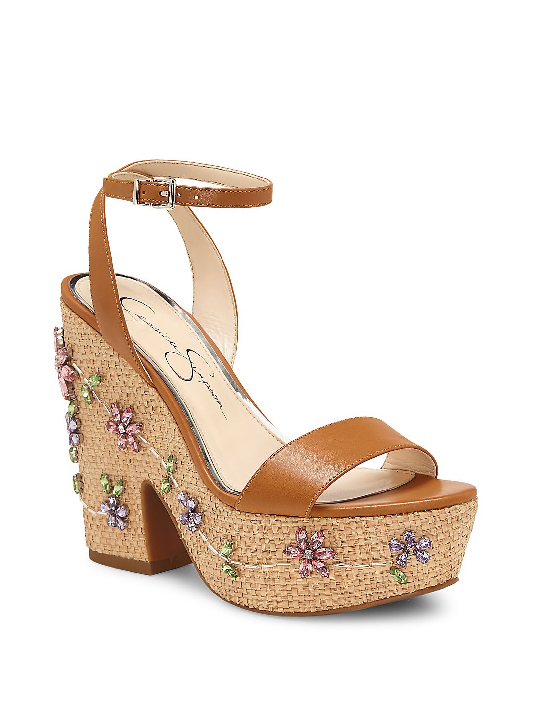 Cressia Leather Ankle-Strap Sandals