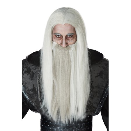 Dark Wizard Wig and Beard - Wizard Of Oz Lion Wig