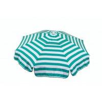 Italian 6 ft. Umbrella Acrylic Stripes Jade Green And White - Beach Pole