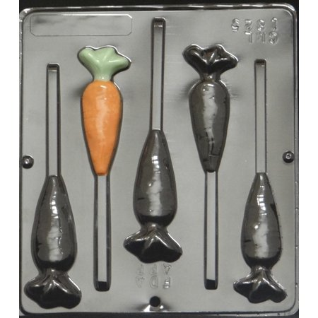 Carrots Candy Mold - 1825 Carrot Pop Lollipop Chocolate Candy Mold