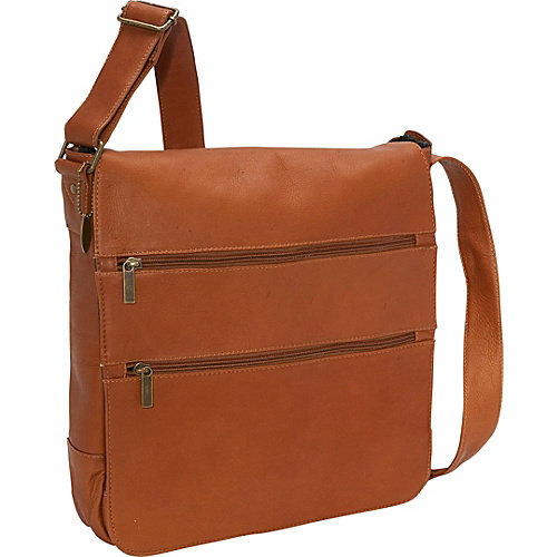 David King Laptop Messenger Bag with Two Zip Pockets