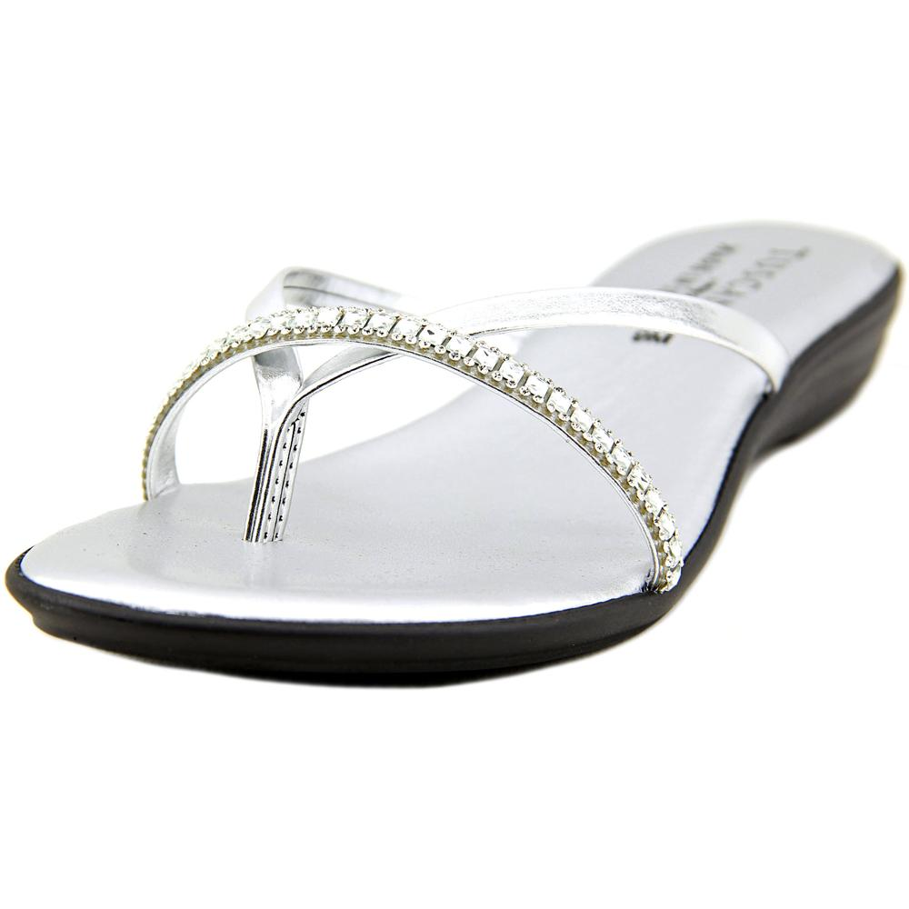 Easy Street Auletta Open Toe Synthetic Thong Sandal by Easy Street
