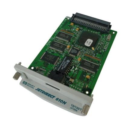 - HP JetDirect 610N Print Server Network Interface Card J4169A