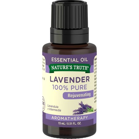 Nature's Truth Aromatherapy Lavender 100% Pure Essential Oil, .51 fl (Pure Lavender Essential Oil)