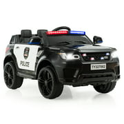 Costway Kids 12V Electric Ride On Car with Remote Control Bluetooth BlackWhite