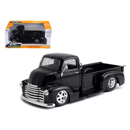 1952 Chevrolet COE Pickup Truck Black with Chrome Wheels 1/24 Diecast Model by - Chrome Truck