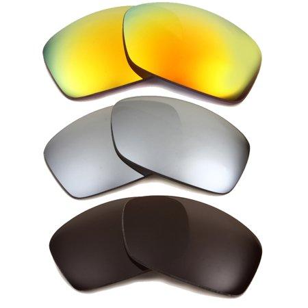 40e4b0f5f18 HIJINX Replacement Lenses Yellow Silver Black by SEEK fits OAKLEY Sunglasses  - Walmart.com