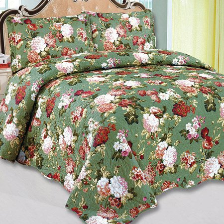 Glory Home Design Emily 3 Piece Reversible Quilt Set