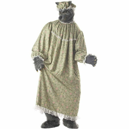 Men's Wolf Granny Costume - Big Bad Wolf Costumes For Men