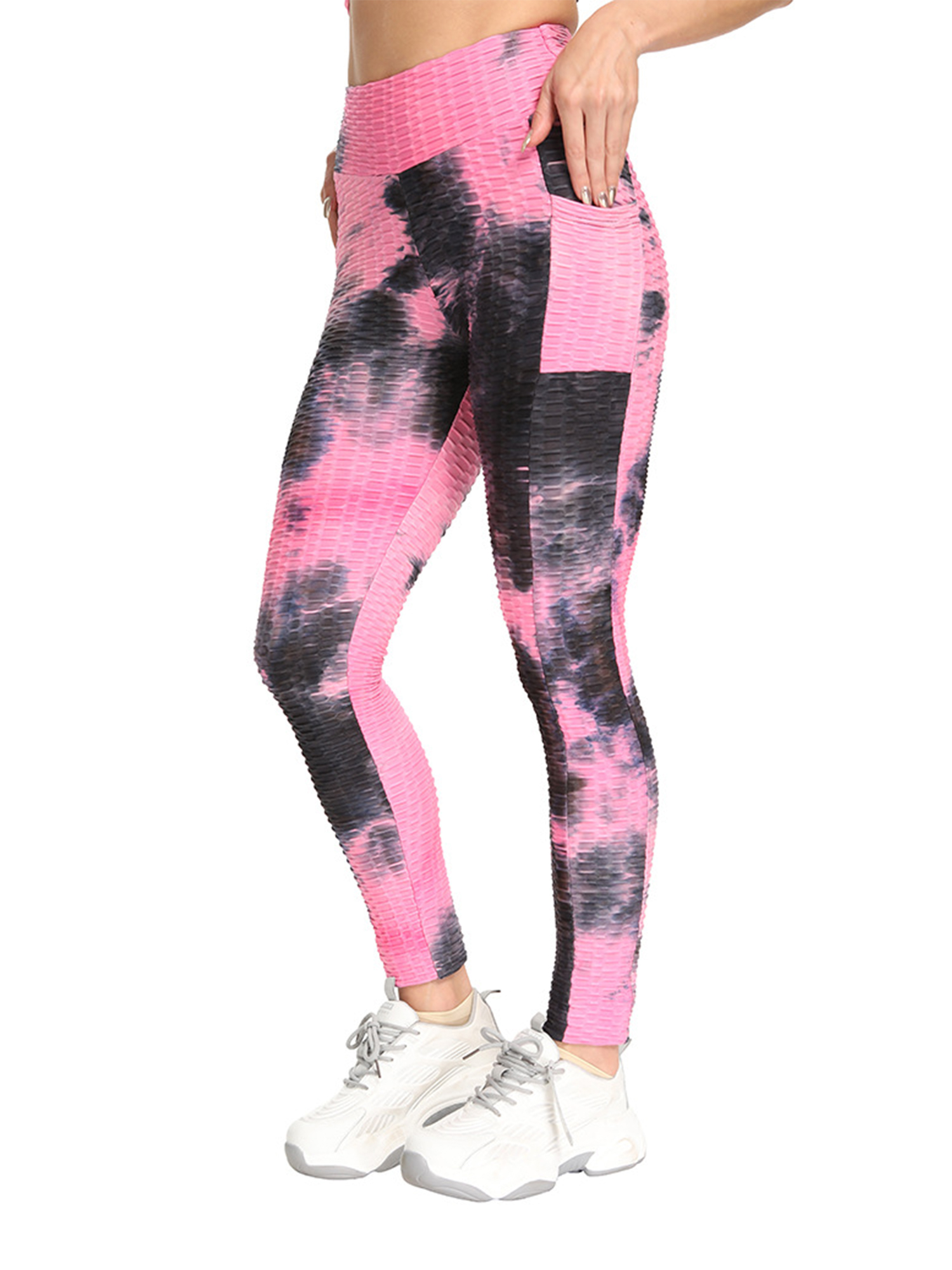 Details about  /Women Push Up Yoga Pants Anti Cellulite Leggings Ruched Sport Honeycomb Trousers