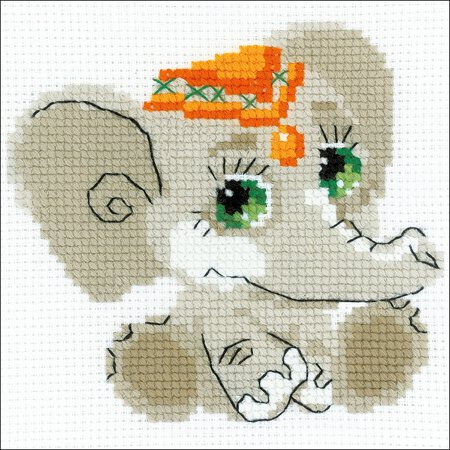 Stitched Elephant (RIOLIS Counted Cross Stitch Kit 6