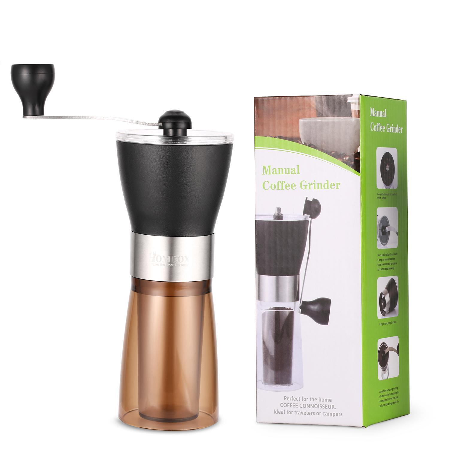 4season Mini Stainless Steel Manual Coffee Grinder Travel Portable BTC by