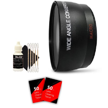 52mm Wide Angle Lens Kit for Nikon  D3100 D3200 and All Nikon DSLR