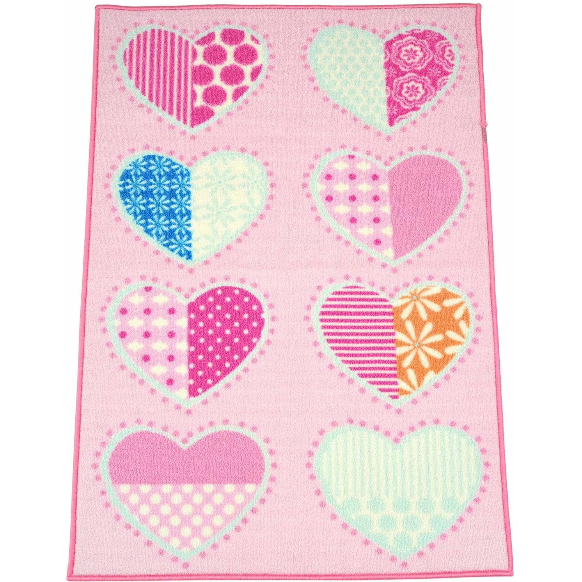 """Mainstays Kids Hearts and Stripes Rug,30"""" x 46"""""""