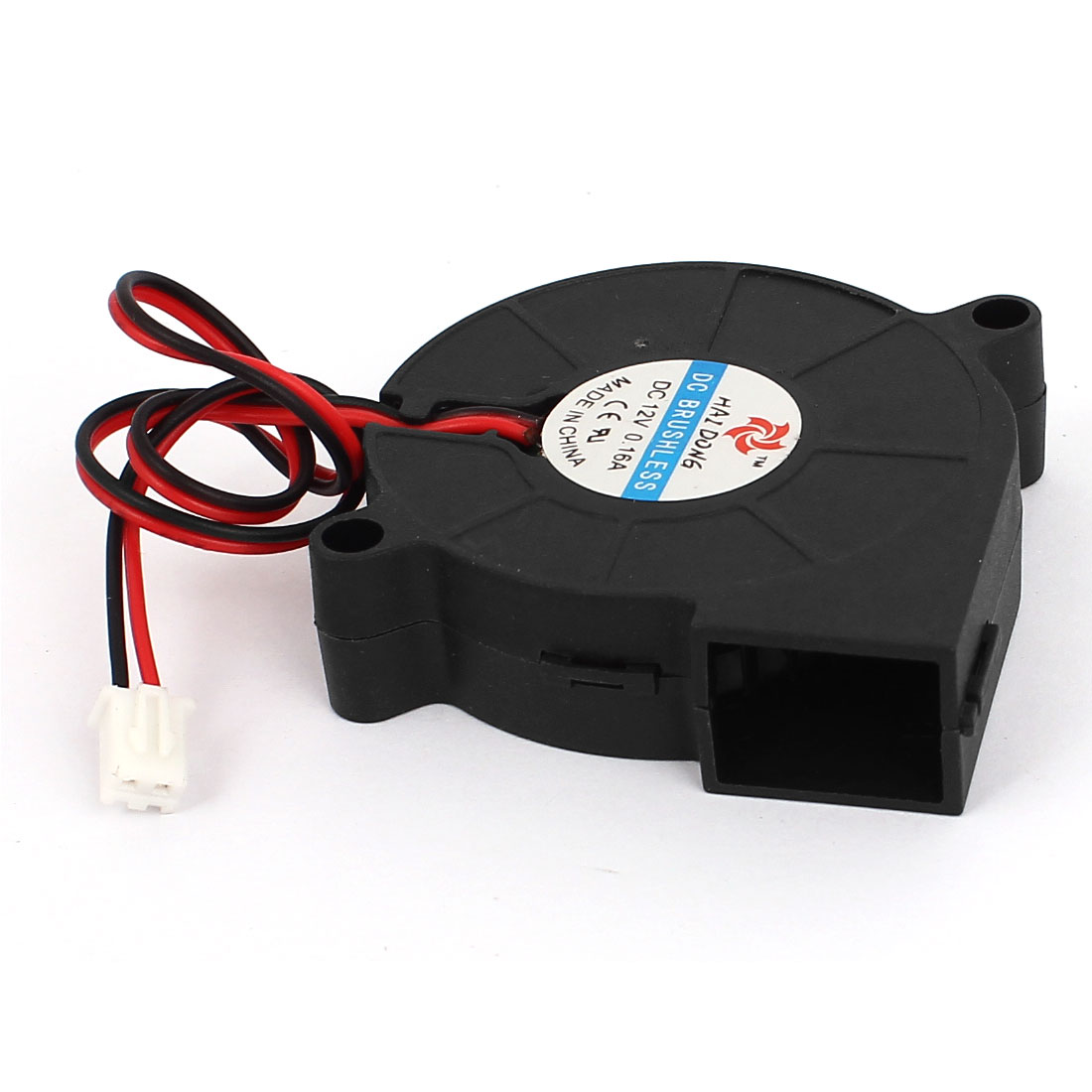 DC 12V 0.16A 5015 50mm x 15mm 2 Pin Connector Brushless C...