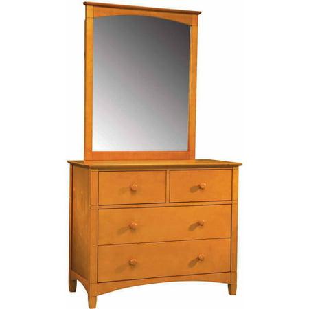 bolton furniture essex 4 drawer dresser and mirror set. Black Bedroom Furniture Sets. Home Design Ideas