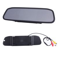 "Podofo Mini 4.3"" Car Rear View Mirror Monitor with Backup Camera LED Night Vision Waterproof Parking Reversing Camera CCD Video Auto Parking Assistance System Assembly Car-styling"