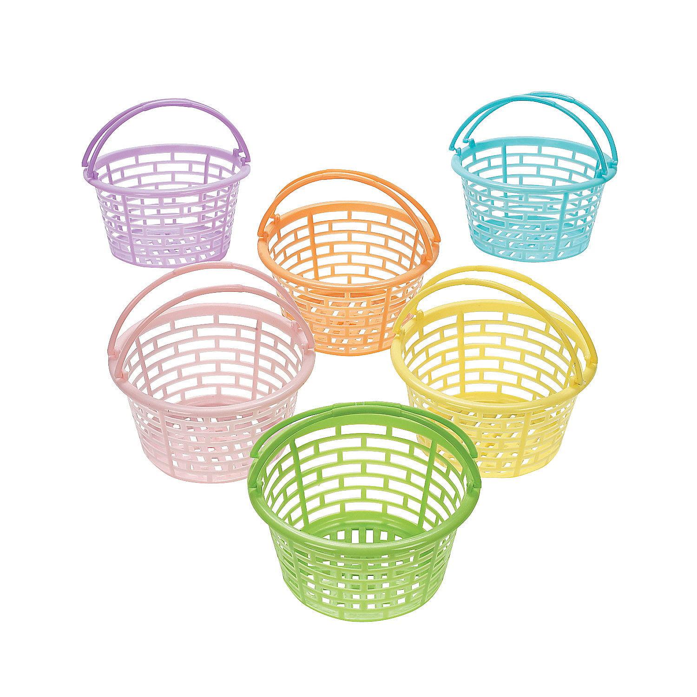 IN-37/112 Pastel Round Easter Baskets Per Dozen