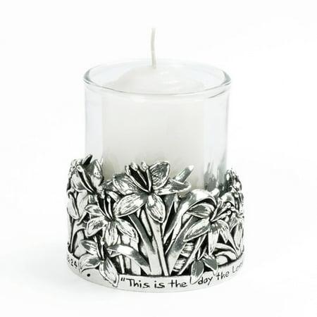 Bob Siemon Designs Lilies  /  Psalm 118:24 Votive Candle