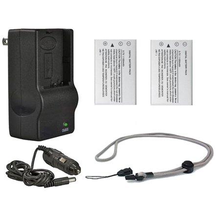 Nikon CoolPix P510 High Capacity Batteries (2 Units) + AC/DC Travel Charger + Krusell Multidapt Neck Strap (Black Finish)