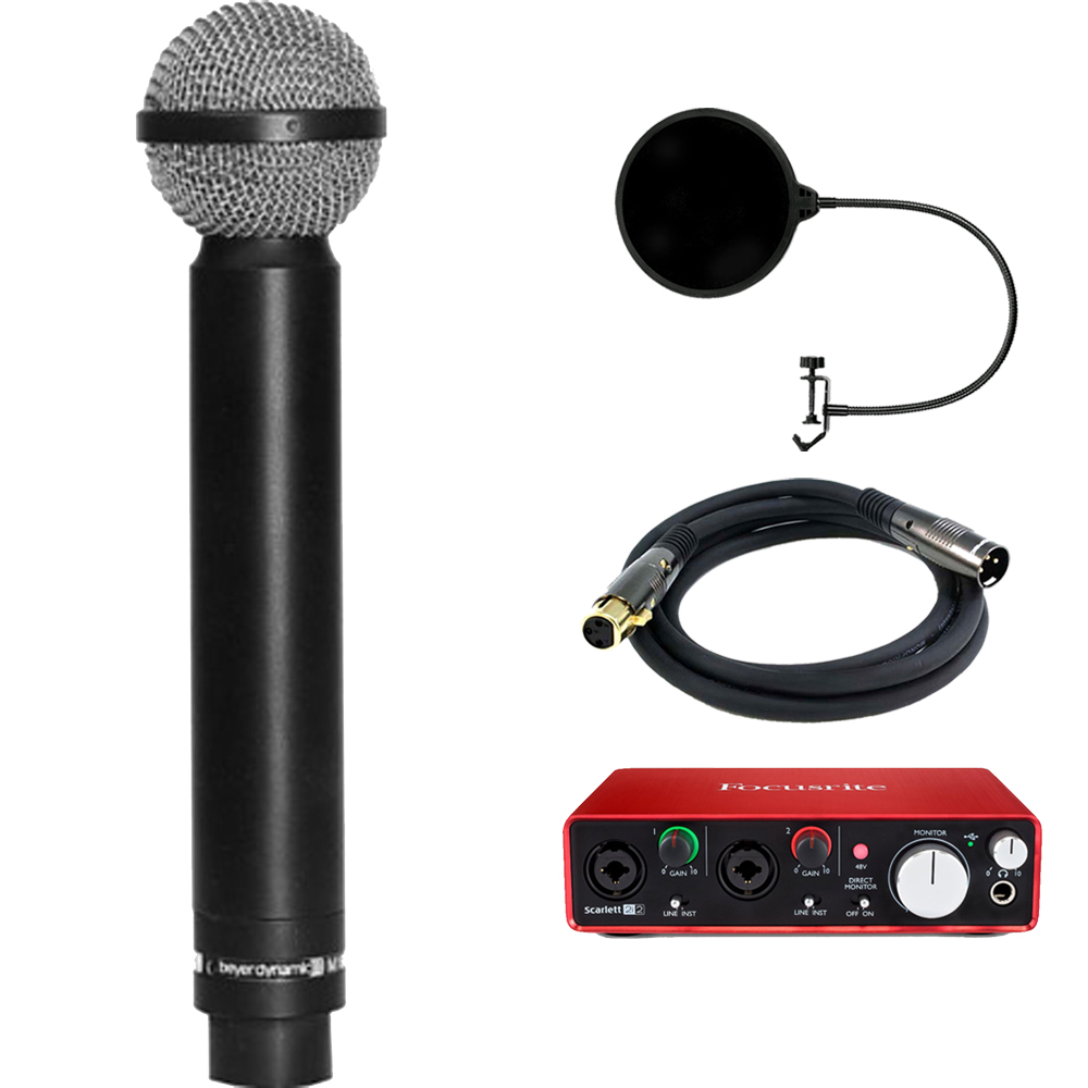 BeyerDynamic Legendary Hypercardioid Double Ribbon Microphone with Interface Bundle