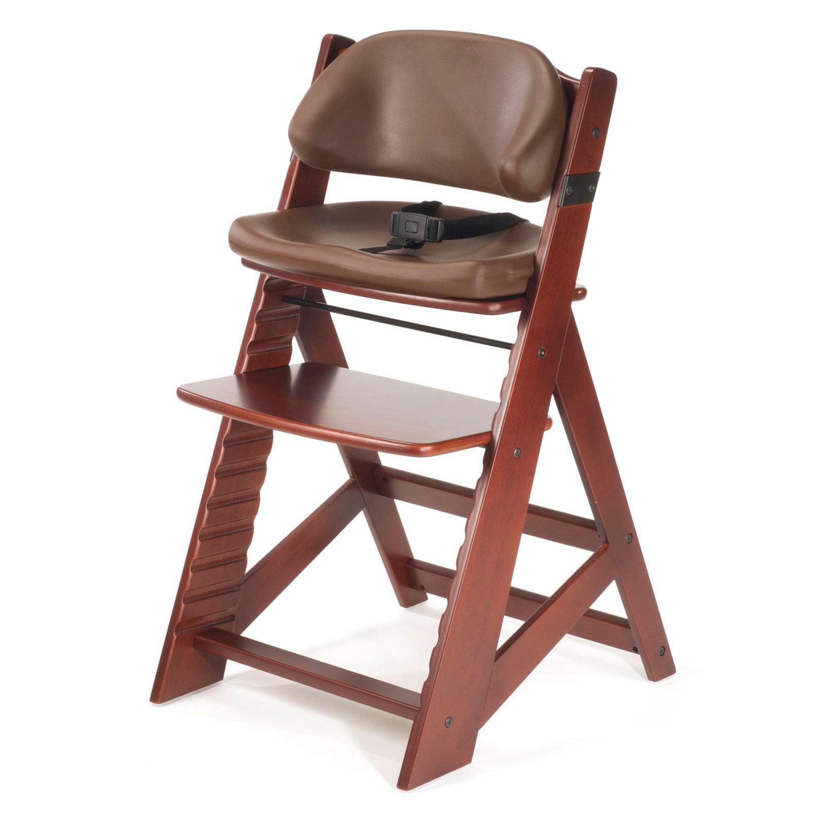 Keekaroo Height Right Kids Chair Mahogany with Chocolate Comfort Cushions