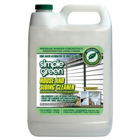 Green Clean - 128OZ HOUSE & SIDING PRESSURE WASHER CLEANER, Cleans Mold and Mildew By Simple Green