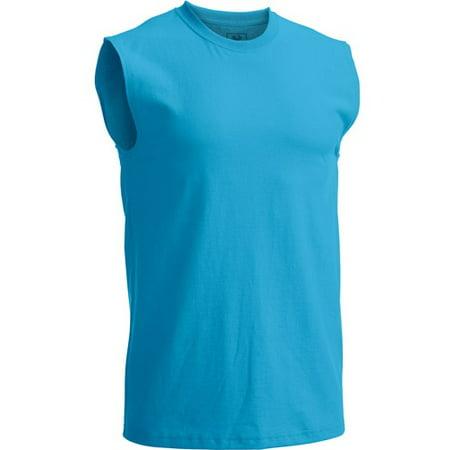 29e1db7ae55ff Fruit of the Loom - Men s Muscle T-Shirt with Rib Trim - Walmart.com