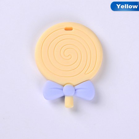 SHOPFIVE Baby Silicone Teether Pendant Teething Chew Bite Lollipop Toys Best Usable