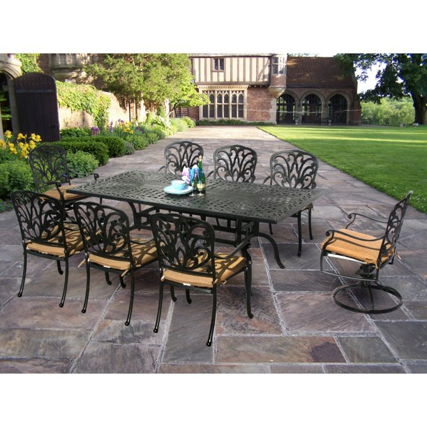 Oakland Living Hampton 84 x 42 in. Patio Dining Set ... on Oakland Living Patio Sets id=79290