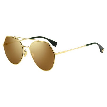 ab7aac7cd9 ... UPC 762753291899 product image for FEN Metal Aviator Sunglasses 55 0001  Yellow Gold (83 brown