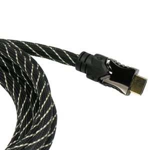 InstallerParts 10 ft HDMI High Speed/Ethernet Net Jacket Cable -- Professional Series -- Supports 3D Full 1080P 4K 2K Devices and Audio Return