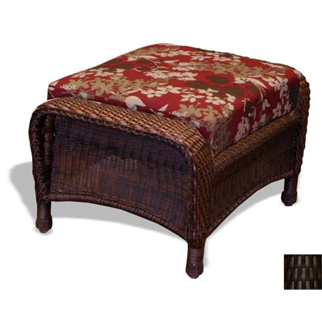 Tortuga LEX-6T Sea Pines Resin Wicker Ottoman---Tortoise