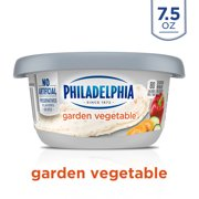 Philadelphia Garden Vegetable Cream Cheese Spread, 7.5 oz. Tub