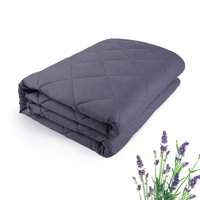 "Lavender Weighted Blanket(60"" x80"",15 lbs) 100% Cotton Material with Glass Beads for People With Anxiety"