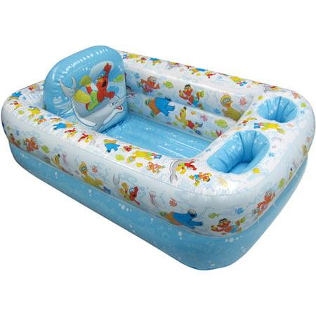 sesame street inflatable bathtub. Black Bedroom Furniture Sets. Home Design Ideas