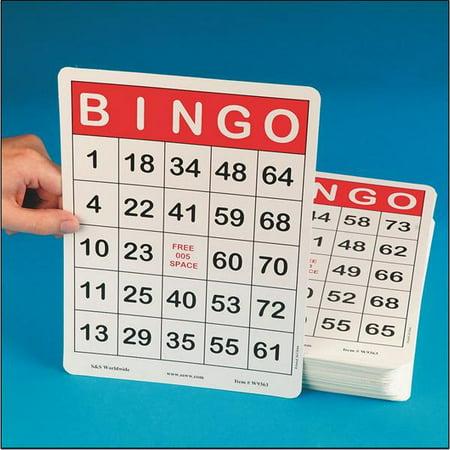 Jumbo bingo cards walmartcom for Walmart business card printing