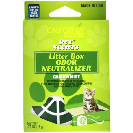 California Scents Pet Scents Litter Box Odor Neutralizer 6-Unit Tray, Garden Mist, 0.7