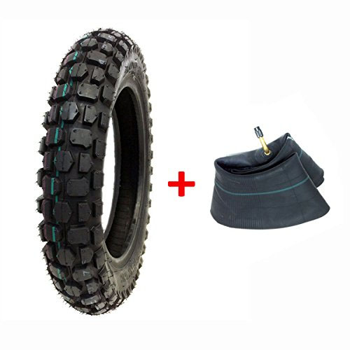 COMBO: Knobby Tire with Inner Tube 3.00 - 12 Front or Rear Trail Off Road Dirt Bike Motocross Pit