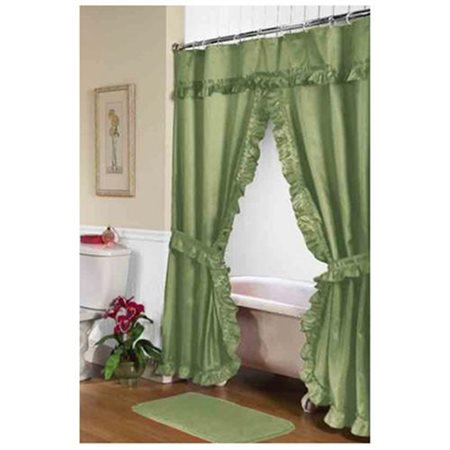Lauren Double Swag Shower Curtain Sage