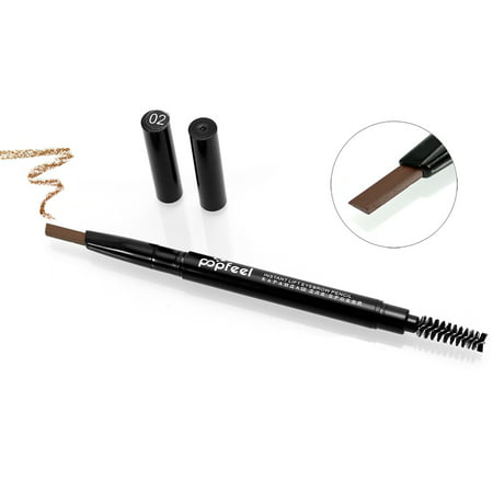 2in1 Rotating Eyebrow Pencil Double Tips Waterproof Long Lasting 24 Hours Natural Pigment Brown Eyebrow Kit ()