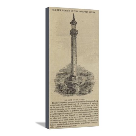 The New Beacon on the Goodwin Sands, the Light of All Nations Stretched Canvas Print Wall Art